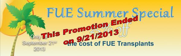 Summer FUE Promotion Ended